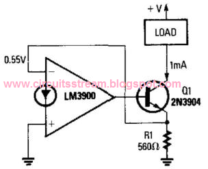 1-Ma Current Sink Circuit Diagram