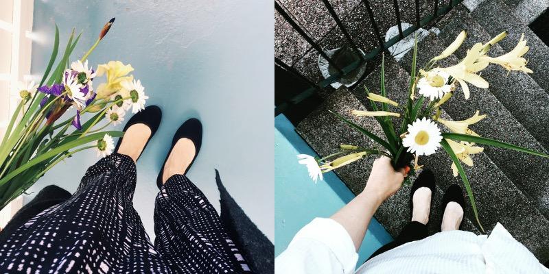 kukat ja kauniit kengät
