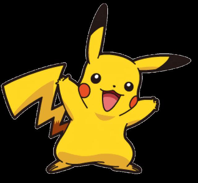 Pikachu desenho colorido com fundo transparente