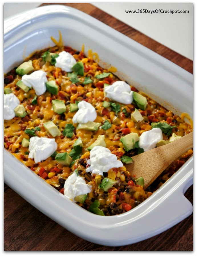 ... Cooking: Slow Cooker (One Pot) Mexican Rice and Beans with Avocados