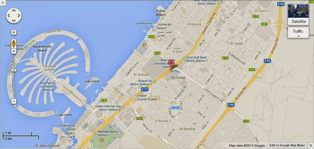 Detail Magic Planet Dubai Location Map