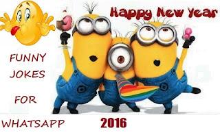Gambar Ucapan Selamat Tahun Baru Minion Lucu Funny Happy New Year 2016