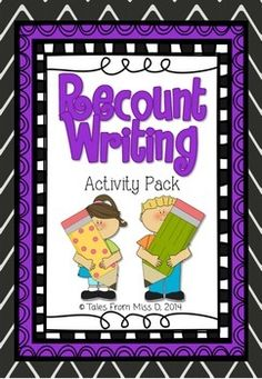 http://www.teacherspayteachers.com/Product/Recount-Writing-Activity-Pack-1336801