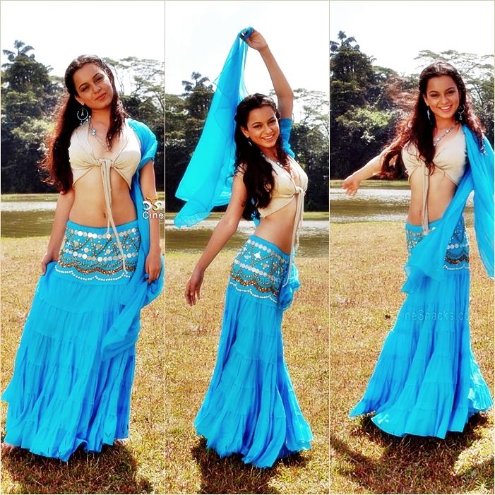 , Kangana Ranaut Hot Pic In Blue Lehnga