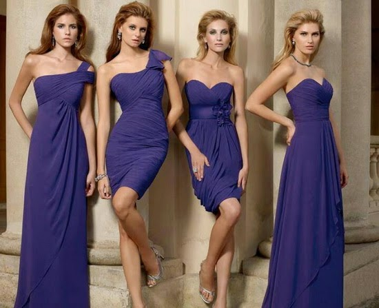 Same colour bridesmaid dresses different styles – Wedding ...