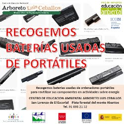 RECOGIDA DE BATERÍAS USADAS DE PORTÁTILES