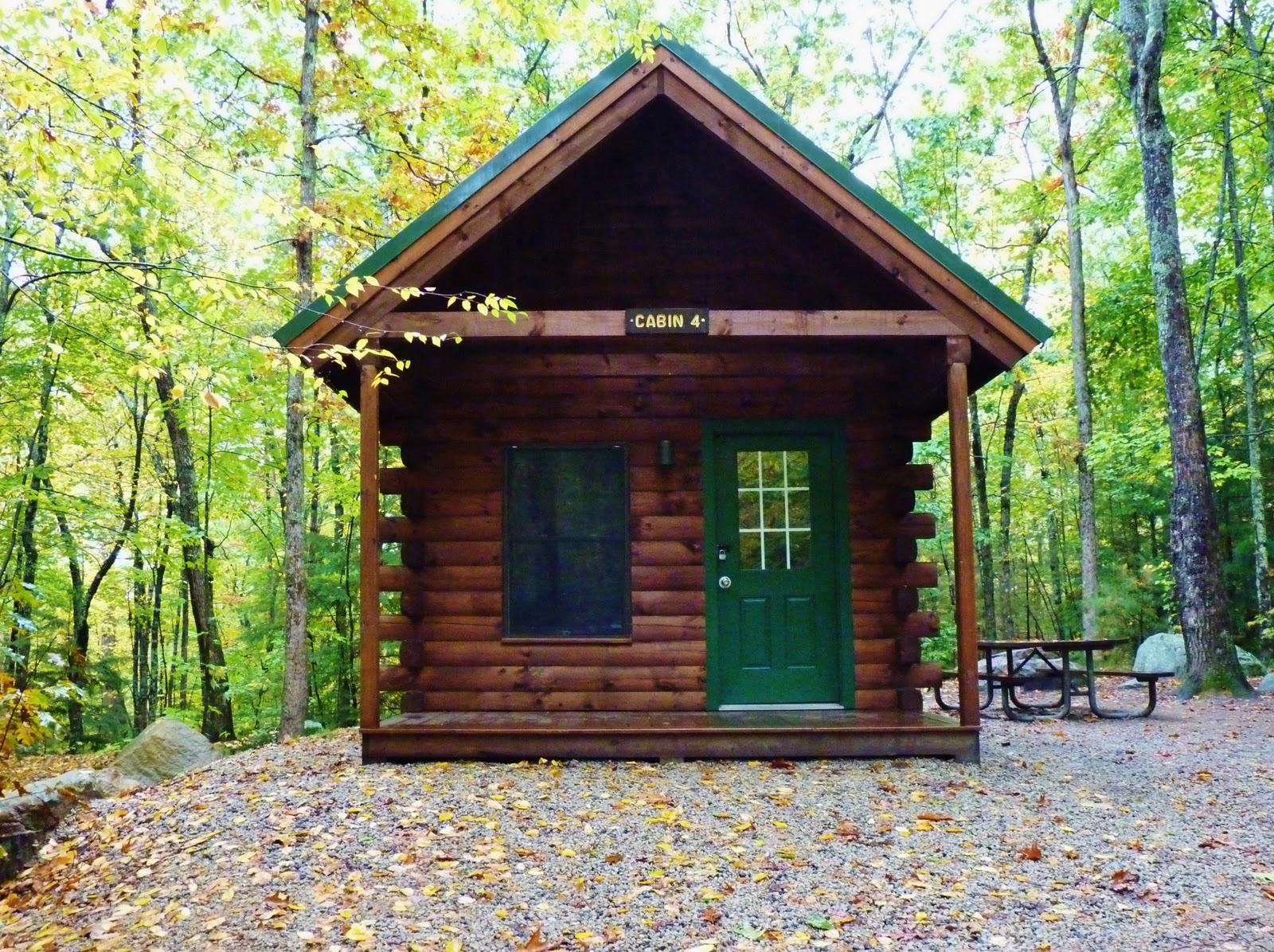 The brownstone birding blog fall camping at pawtuckaway for Cabin camping new hampshire