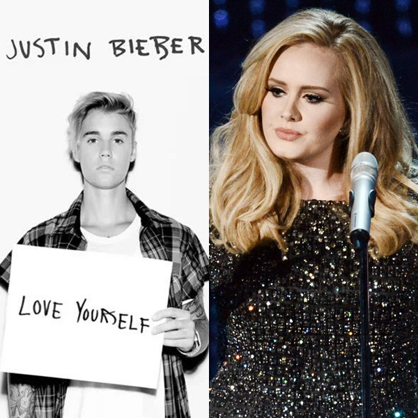 """Love Yourself"" de Justin Bieber supera a ""Hello"" de Adele en el USA iTunes"