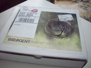 Box of Insurgent by Veronica Roth, published by Harper Teen