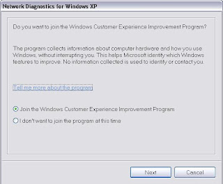 How To Open Network Diagostics For Windows XP