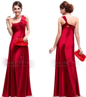 Vestido de renda com cetim vermelho