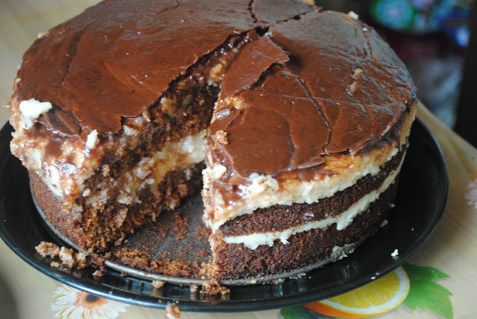 Торт с печенья без выпечки с заварным кремом рецепт пошагово