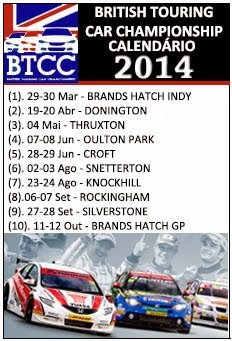 BTCC - Calendário