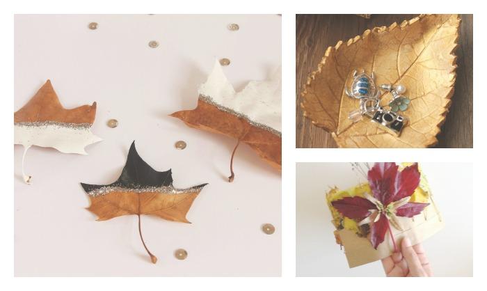 manualidades hojas secas otoño