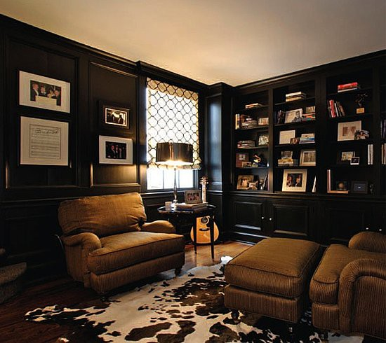 11 Cool Home Office Ideas For Men: Tattered And Inked: Creating A Man Cave: Tips By Christina