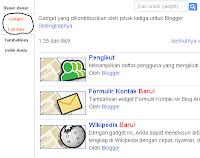 Memasang widget di Blogger