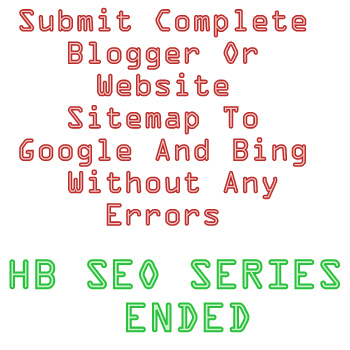 submit sitemap to google and bing without errors hb seo series