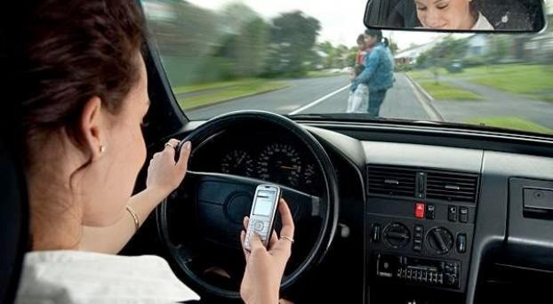 El peligro de textear al manejar