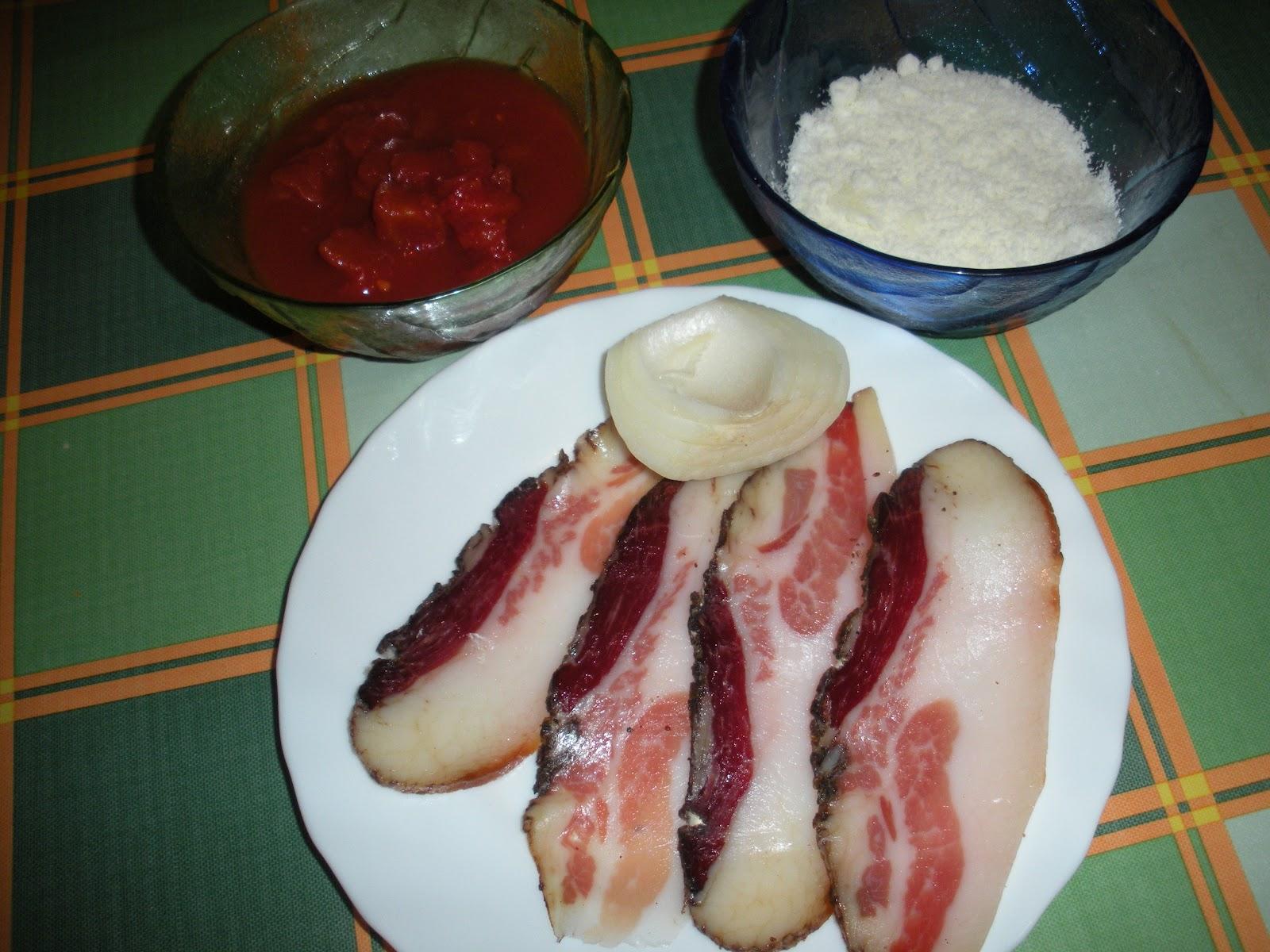 Pasta alla amatriciana cuoci e scuci for Piatto tipico romano