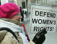 Internationally women's rights are taking a trouncing