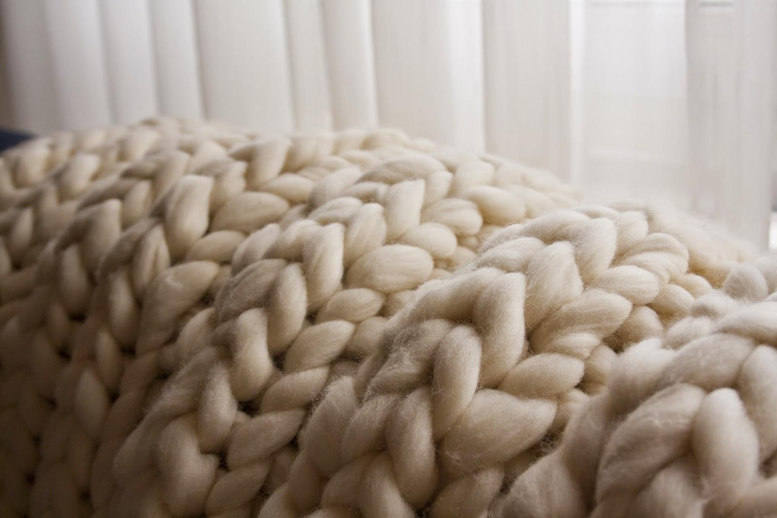 DIY manta lana merino
