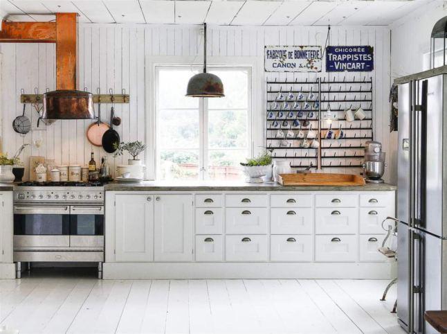 Una cocina r stica con chimenea meu canto blog for Cocinas rusticas con chimenea