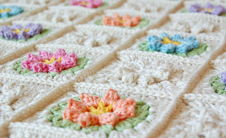 how to finish a crochet baby blanket