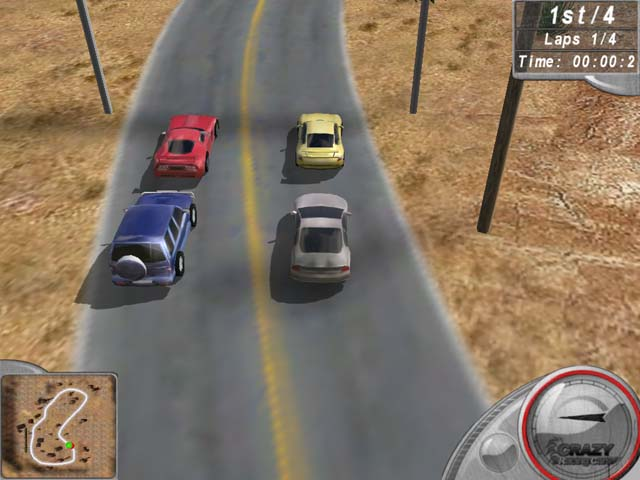 لعبة Crazy Racing Cars
