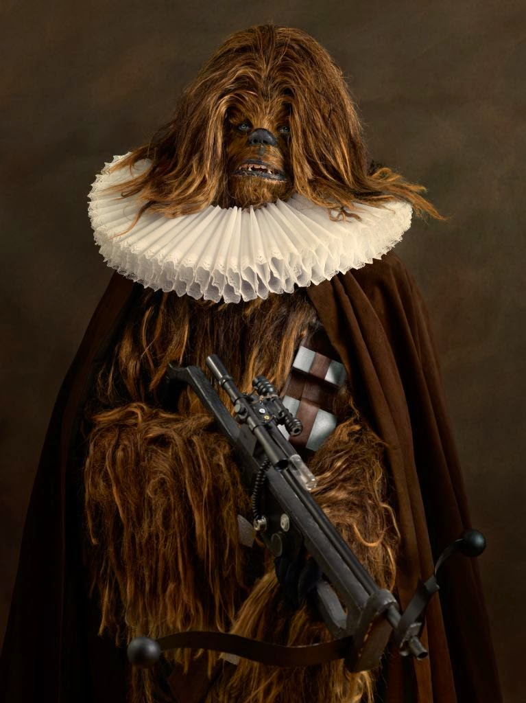 09-Chewbacca-Peter-Mayhew-Sacha-Goldberger-Superheroes-in-the-1600s-www-designstack-co