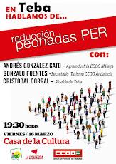 """Charla-debate en Teba: """"Hablamos de la reducción de las peonadas del PER"""""""