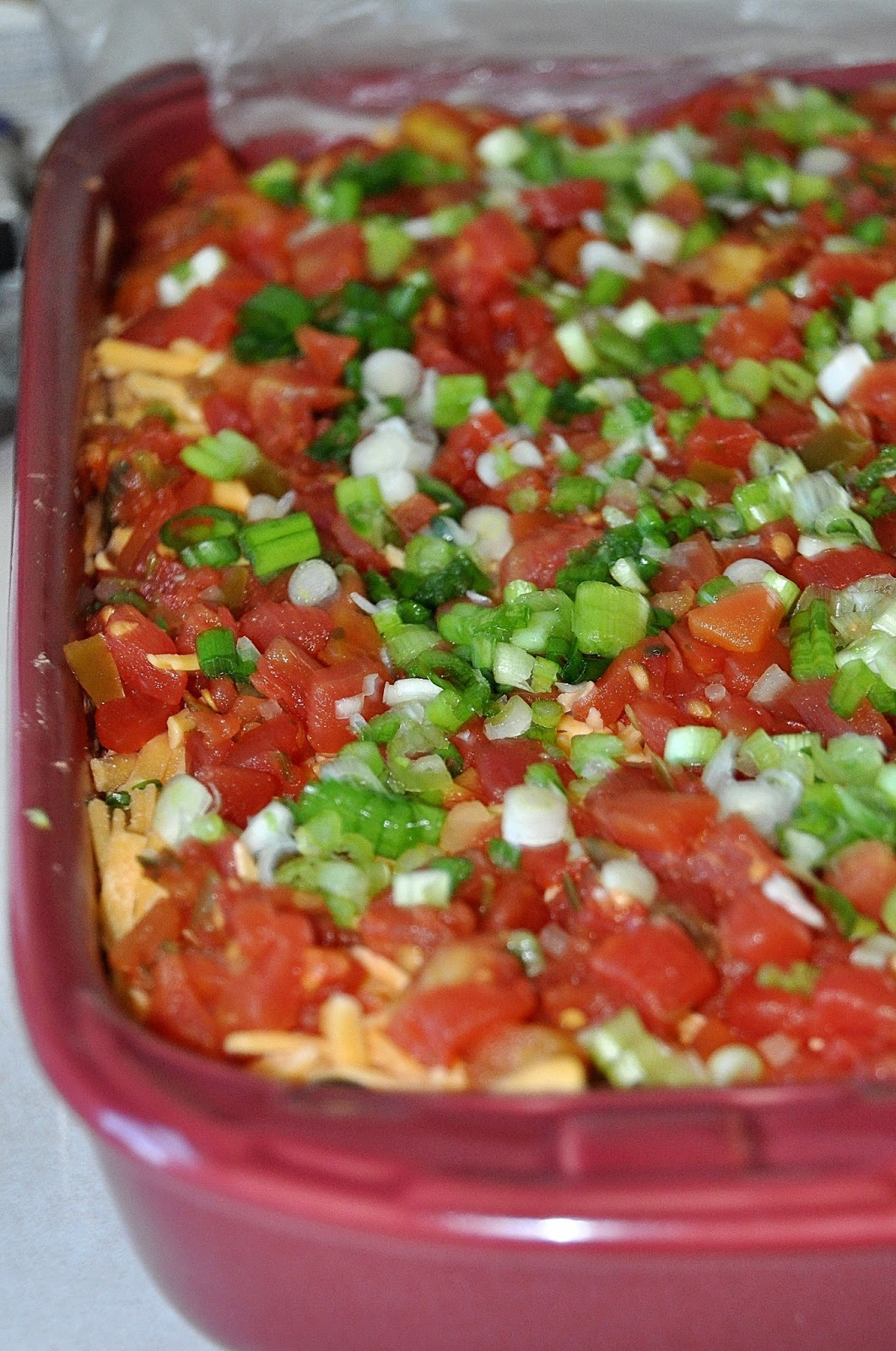 Walking the off-beaten path: Fan Favorite 7 Layer Mexican Dip