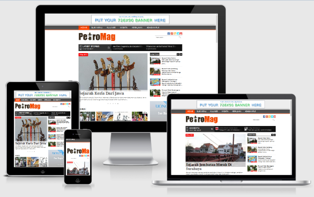 PetroMag Responsive Blogger Template