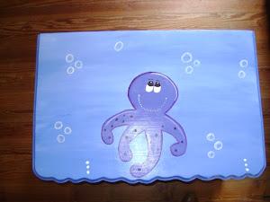 Baúl con diseño del fondo del mar