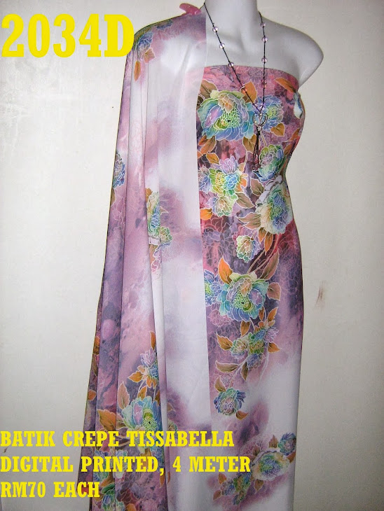 CTD 2034D: BATIK CREPE TISSABELLA DIGITAL PRINTED, EXCLUSIVE DESIGN, 4 METER