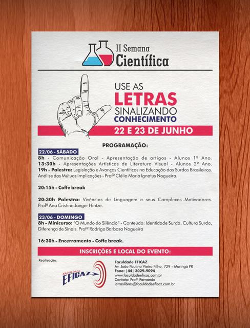 Cartaz Promocional - Faculdade Eficaz