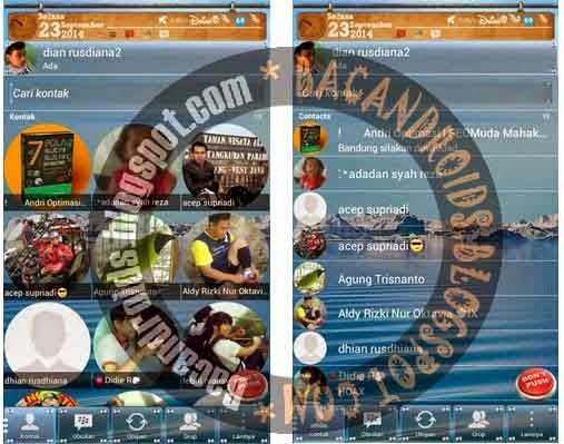 Download BBM+ Plus Mod DP Bulat Circle Transparan Clone Apk terbaru versi 2.4.0.11
