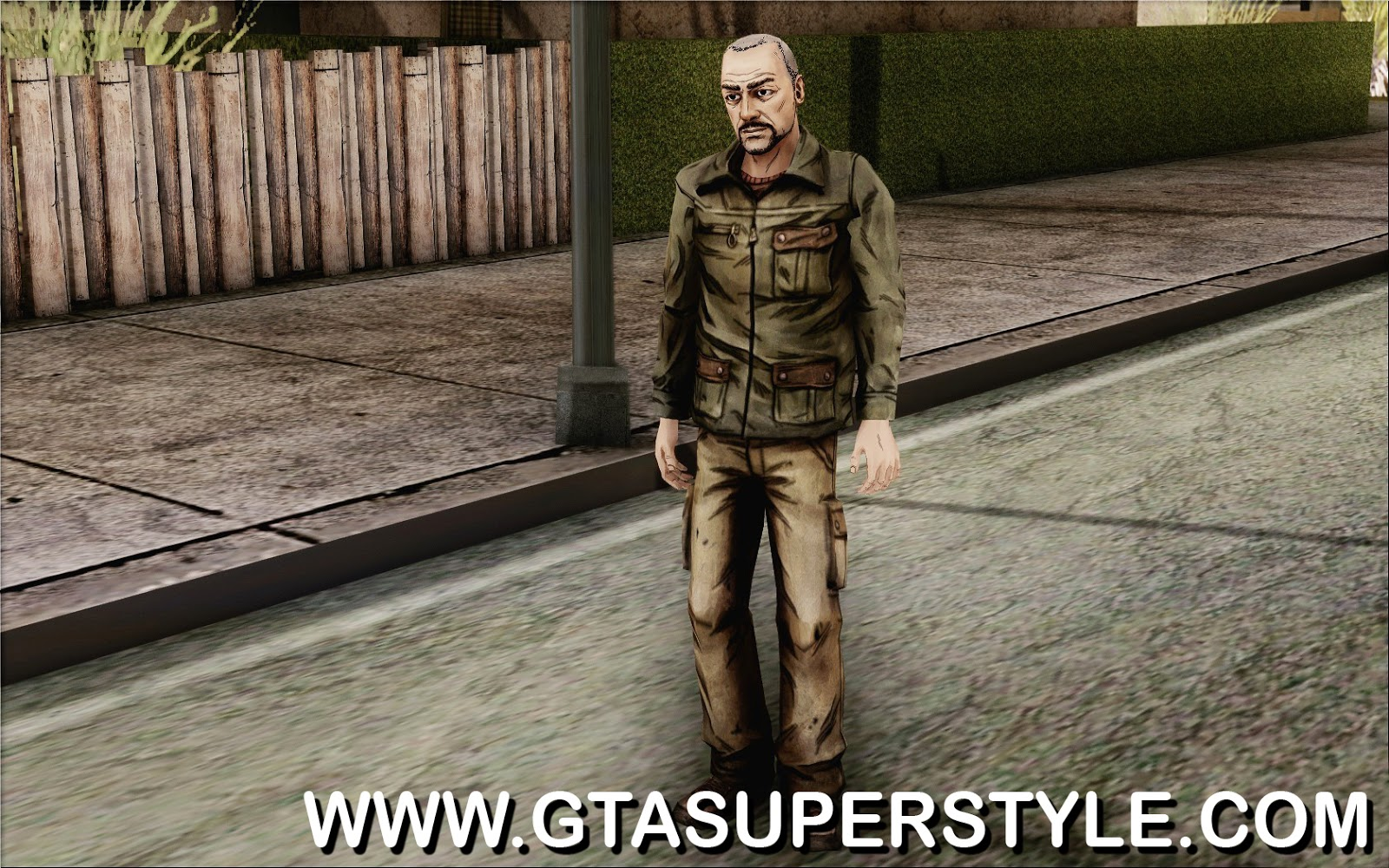GTA SA - Skin Pete from Walking Dead