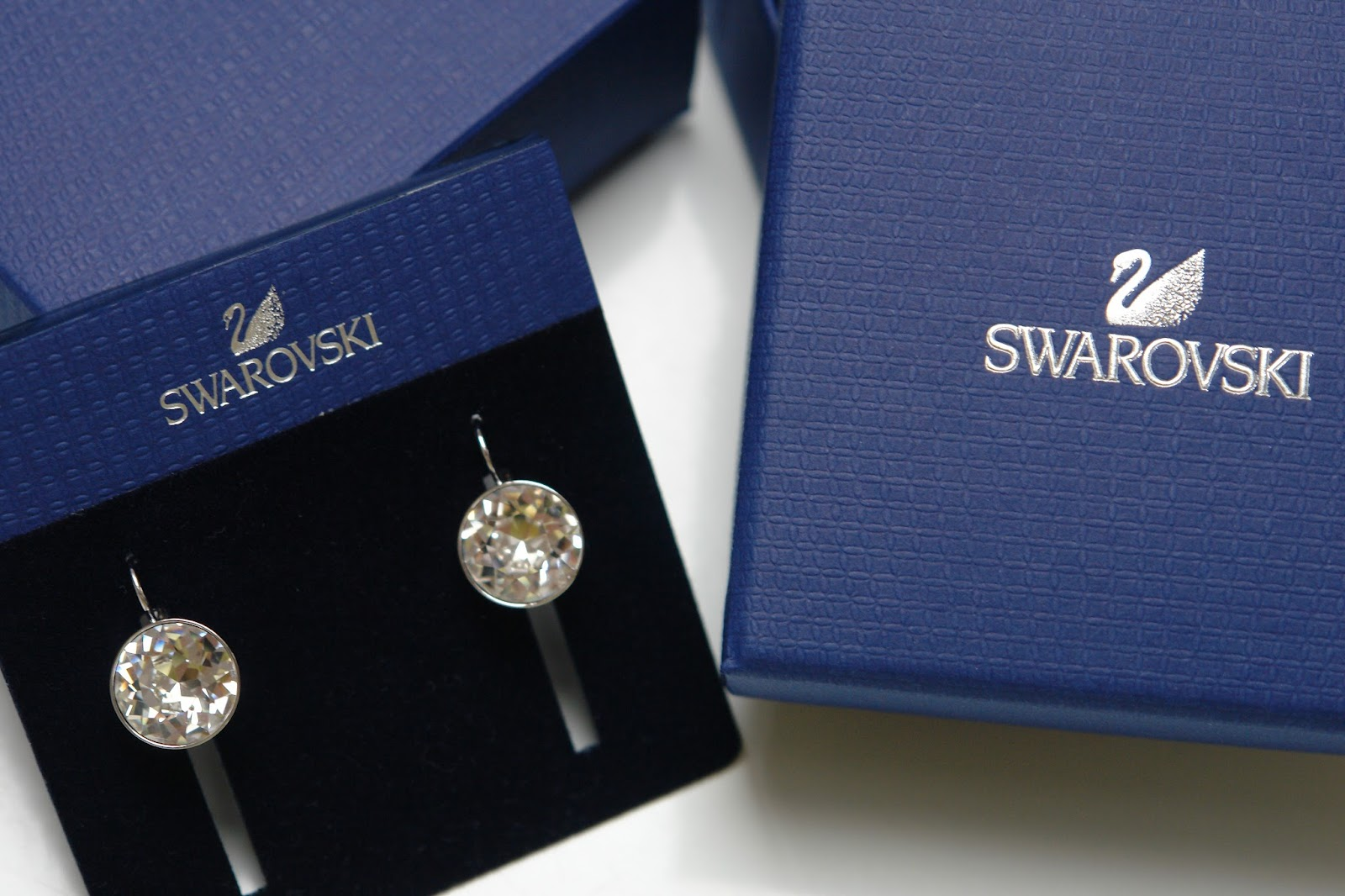 Swarovski Bella Clear Crystal Drop Earrings