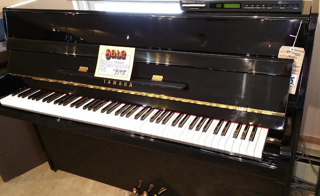 used Yamaha MX80A Disklavier on Grafton's showroom floor