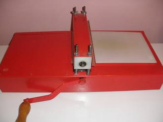 maquina e facas de corte