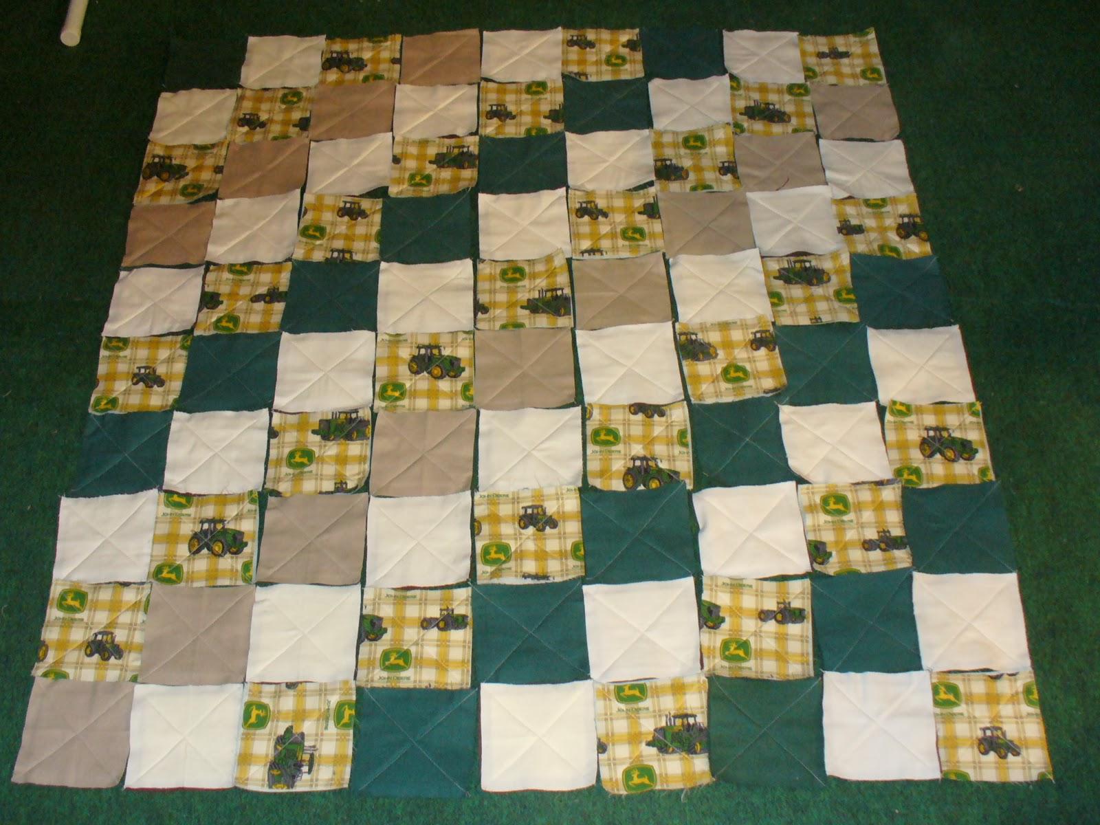 Ashlawnfarms Rag Quilt Creations: John Deere Rag Quilt : john deere quilts - Adamdwight.com