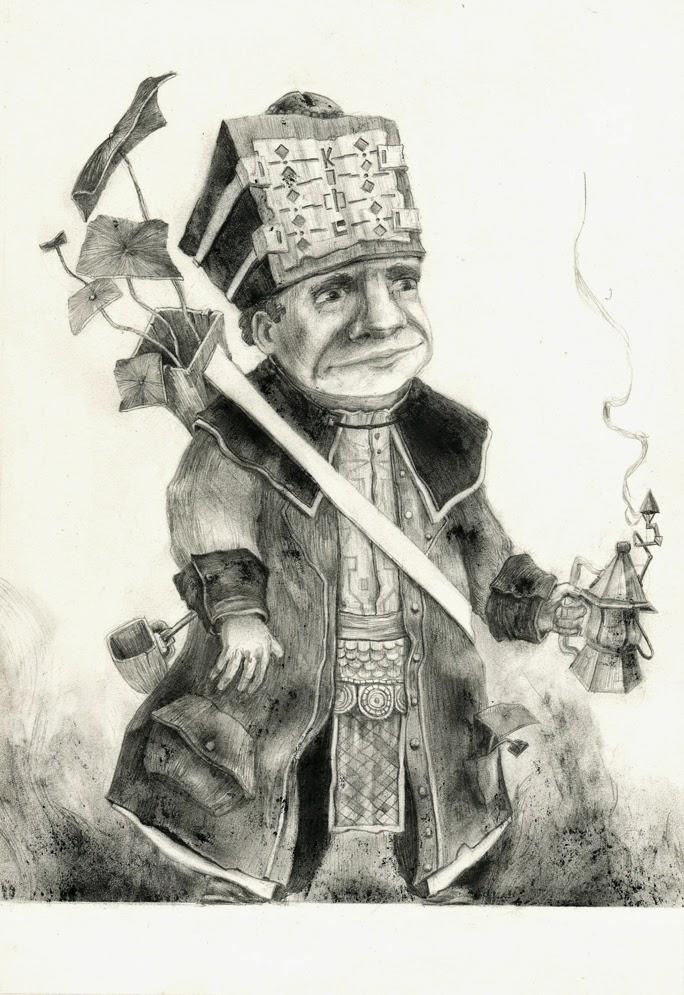 Illustration Bonhomme Cafetière - Gaetan Noir Illustrateur