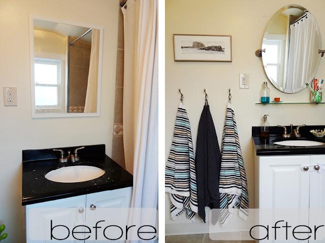 DIY // A Budget-Friendly and Quick Bathroom Makeover ...