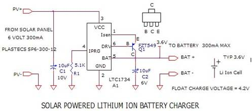 Super circuit diagram simpled solar powered lithium ion battery solar powered lithium ion battery charger circuit asfbconference2016 Images