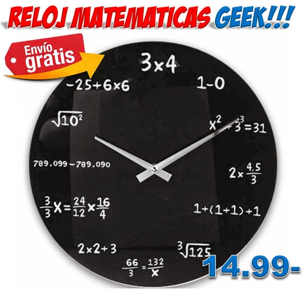 Reloj de pared matem ticas dise o geek regalos hogar - Relojes para decorar paredes ...