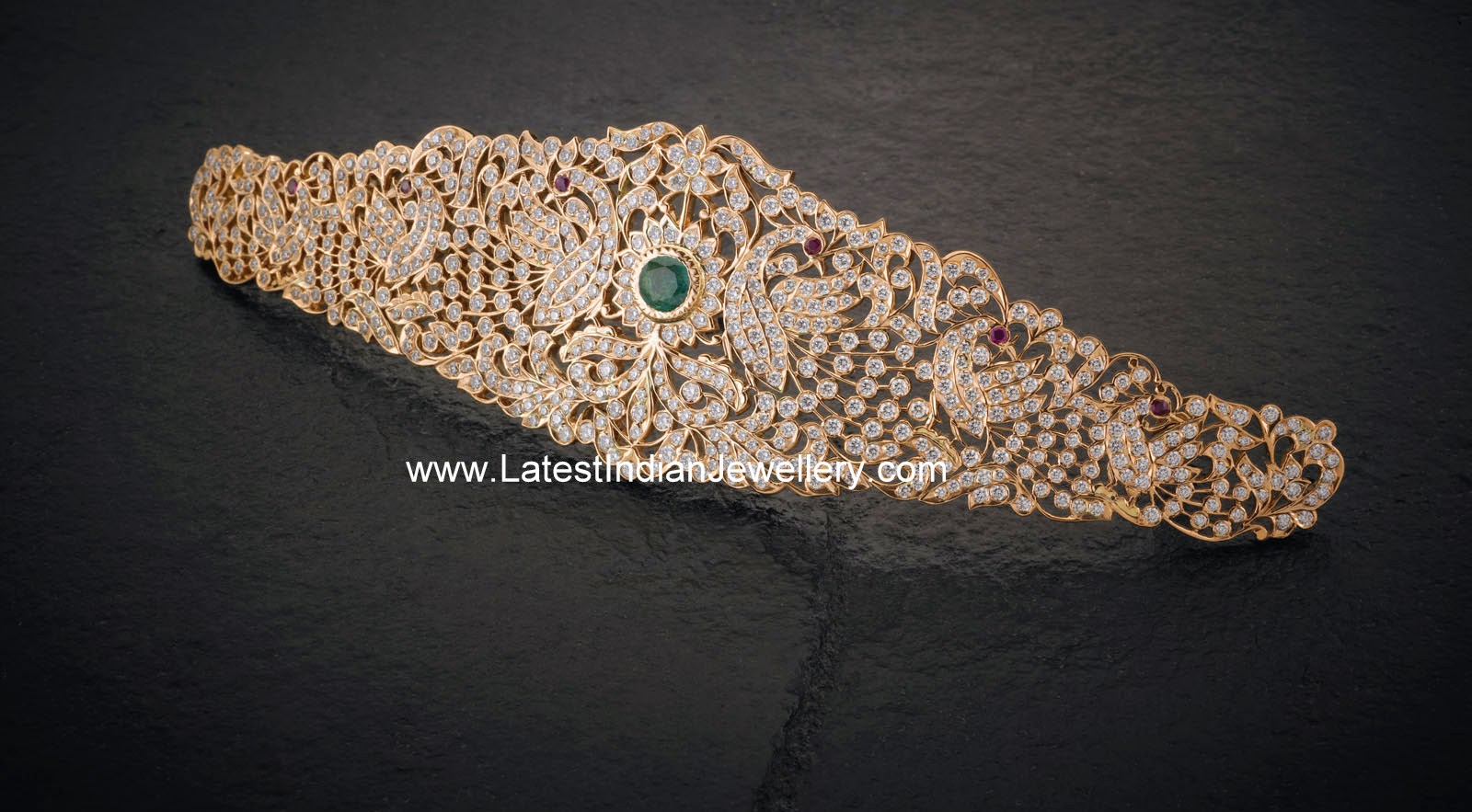 Peacock Design Diamond Waistbelt