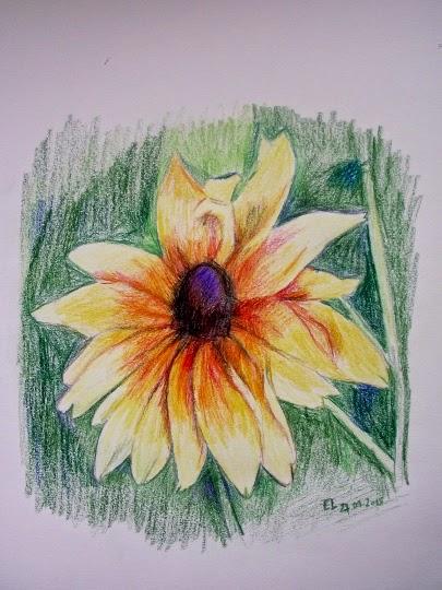 Rysunek- zolty kwiat