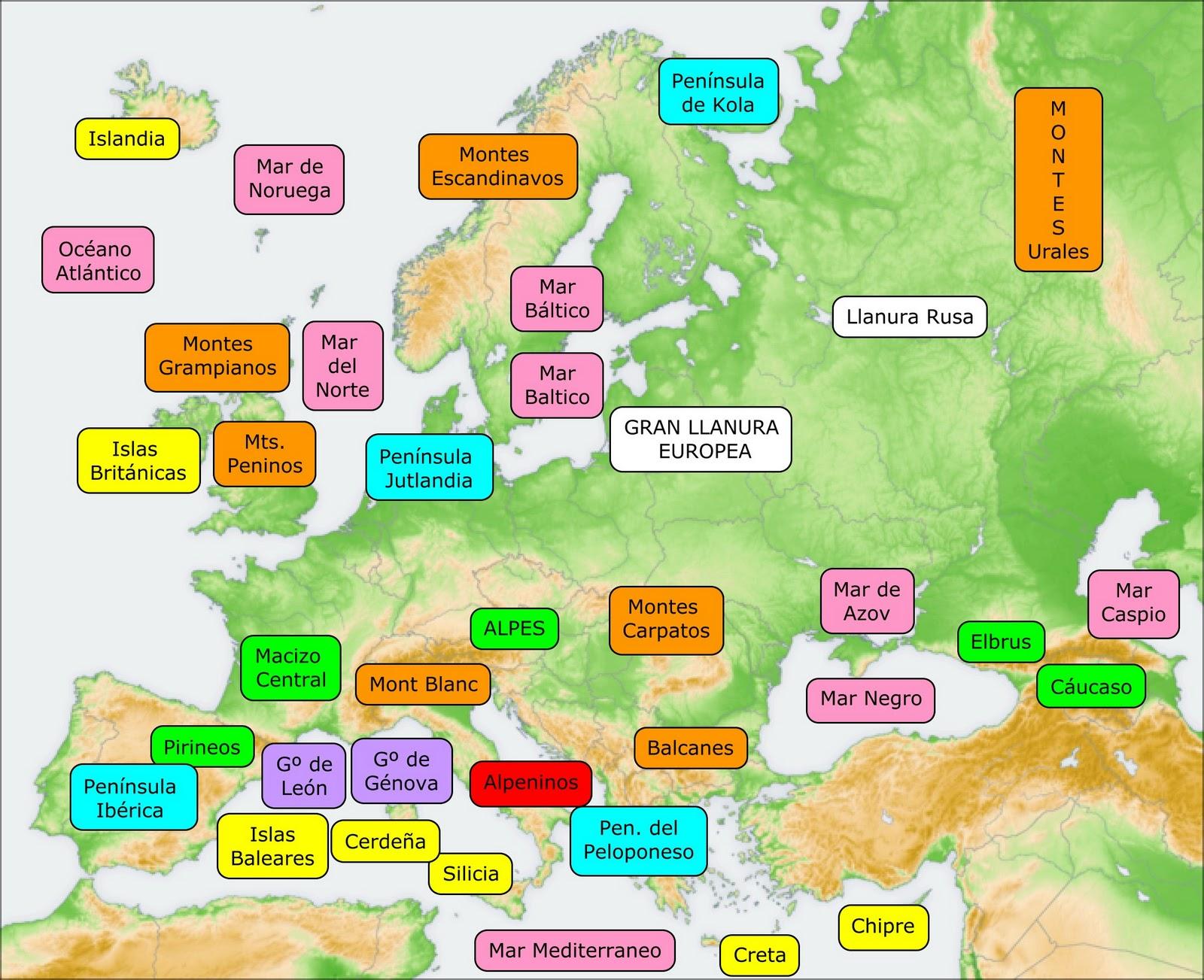 Mapas Interactivos Paises Europa
