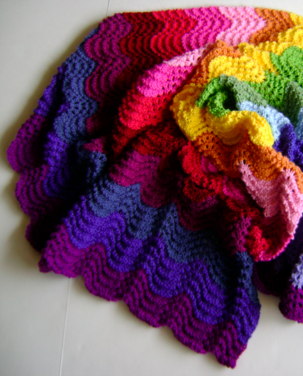Creative Designs by Sheila Zachariae: Knitting Waves in Technicolor