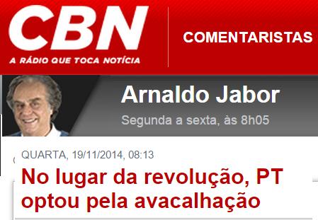 OUÇA;No lugar da revolução, PT optou pela avacalhação. comentário de Arnaldo Jabor